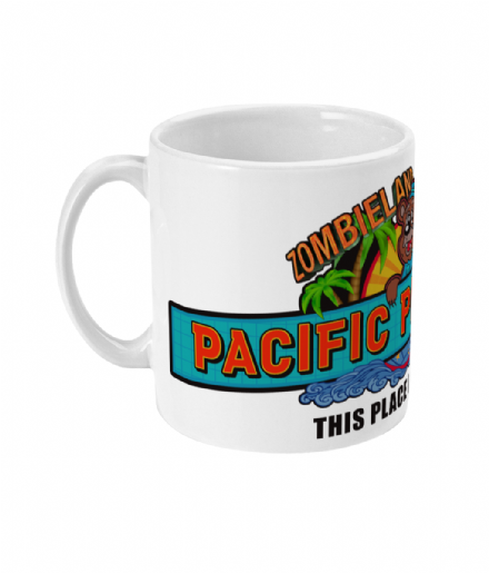 Pacific Playland Amusement Park Ceramic Mug Inspired by Zombieland